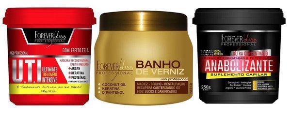 Forever Liss Uti + Banho Verniz + Anabolizante (3 Produtos)