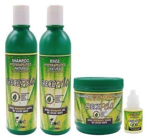 Boé Crece Pelo Kit Shampoo + Condic. + Mascara 240g + Ampola