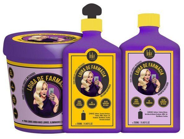 Lola Loira de Farmacia Kit com 3 Produtos