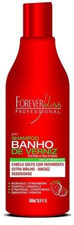 Forever Liss Shampoo Banho de Verniz Morango 500ml