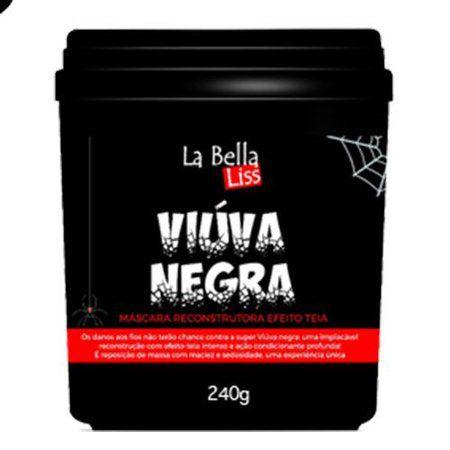 Máscara Reconstrutora Viúva Negra Efeito Teia La Bella Liss 240g