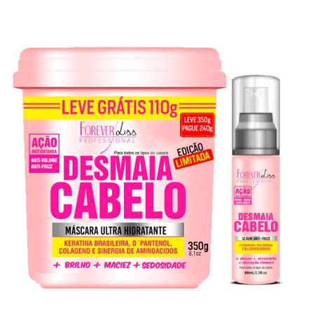 Kit Desmaia Cabelo Forever Liss Máscara de 350g e Sérum de 60ml