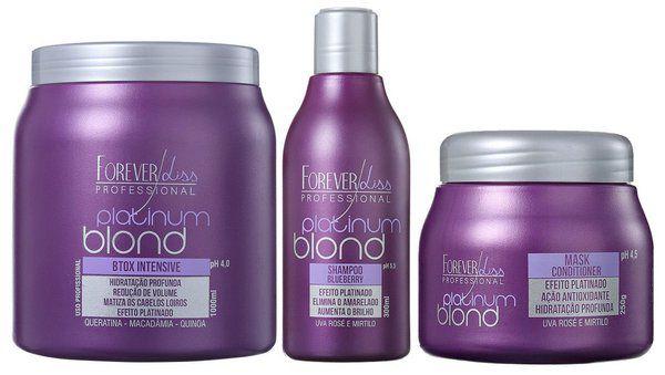 Forever Liss B.tox Matizador 1kg + Kit Platinum Blond