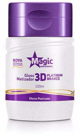 Magic Color Matizador 3D Platinum Branco - Efeito Platinado 100ml