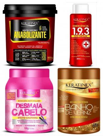 Keratinex Combo Grande Desmaia Cabelo + Banho Verniz + Anabolizante +Sos