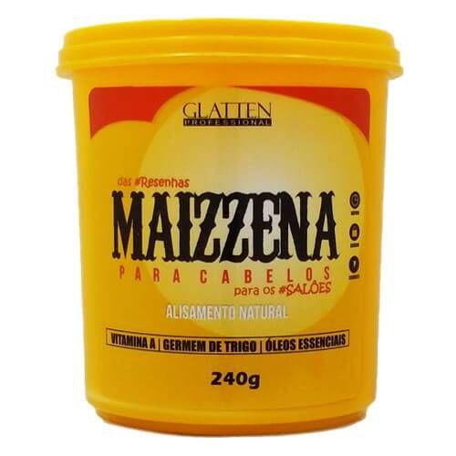 Maizzena  Glatten Para Cabelos Alisamento Natural - 240g