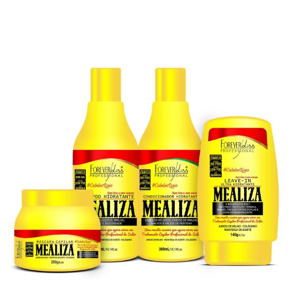 Maizena MeAliza Forever Liss Kit  c/ Mascara 250g (4 Produtos)