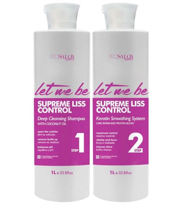 Let Me Be Escova Progressiva Supreme Liss Control Roxa Kit 2x1L
