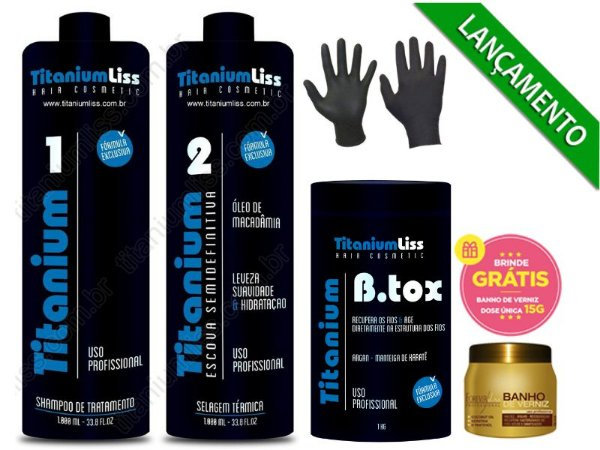 Kit Semi Difinitiva TitaniumLiss 2X1LT+botox 1kg