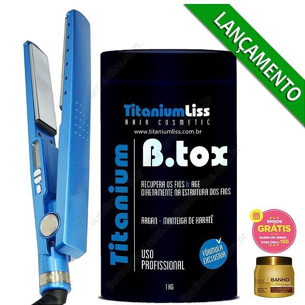 Kit Chapinha Nano Titanium + B.tox 1kg Titanium Liss