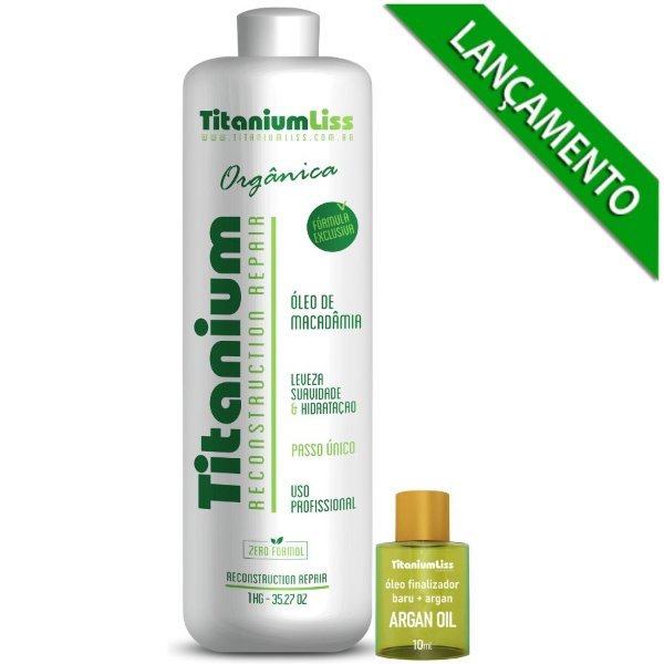 Semi Definitiva Titanium Liss  0% Formol Orgânica -Passo único