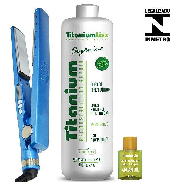 Semi Definitiva Titanium Liss Orgânica Sem Formol + Chapinha