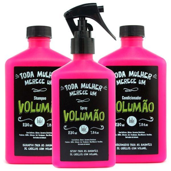 Lola Volumão Kit p/ Cabelos Finos e Sem Volume (3 x 230ml)