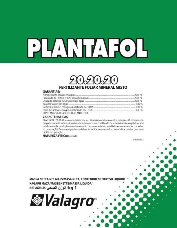 Fertilizante Foliar Plantafol - 20.20.20 - 1Kg