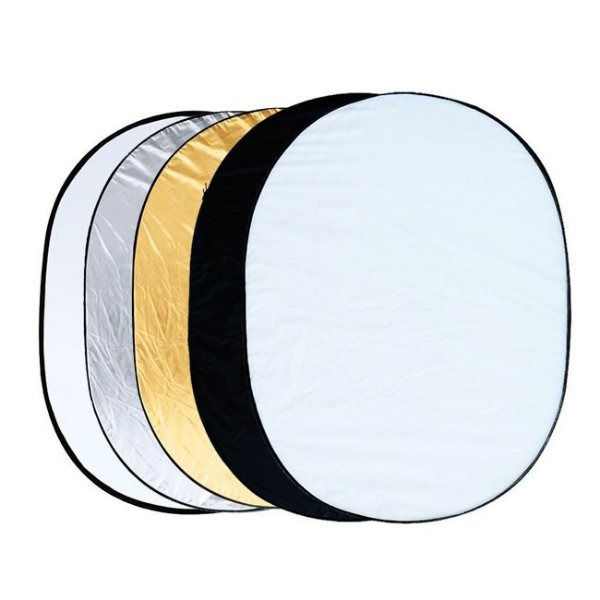 Rebatedor Oval 5 em 1 Dobrável - Tamanho 90 x 120cm