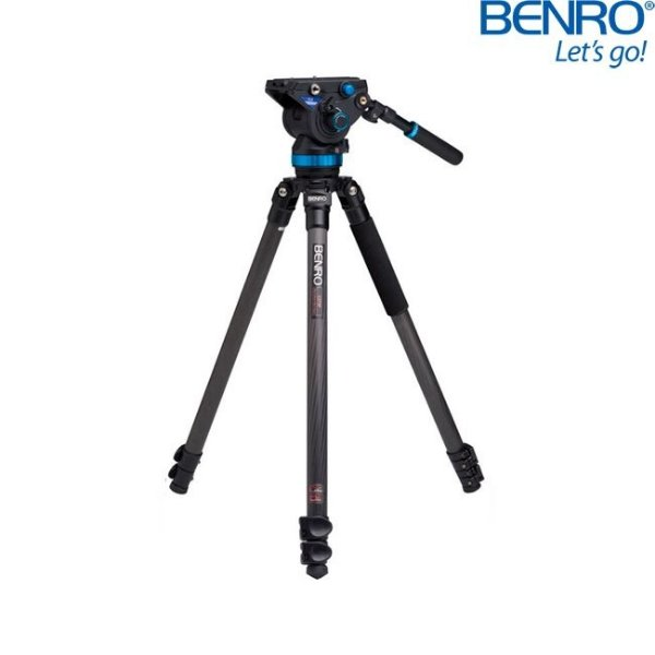 Kit Tripé de Vídeo PRO-S Benro C373FBS8 em Fibra de Carbono