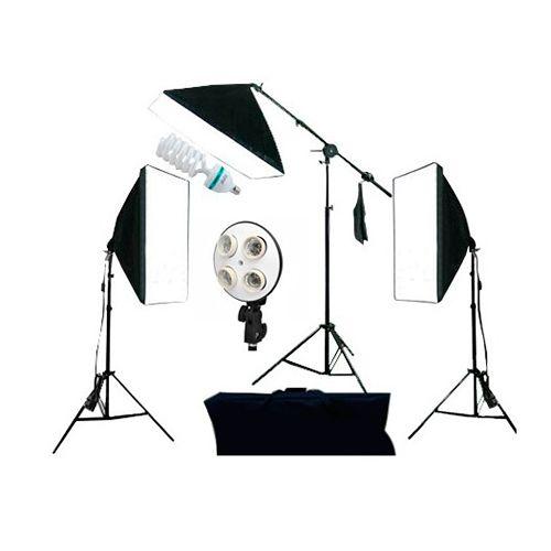 Kit Iluminação Luz Fria Softbox 50x70cm PKSB03