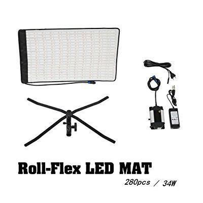 Iluminador de LED com Painel Flexível de 280 LEDs Daylight RX-12T