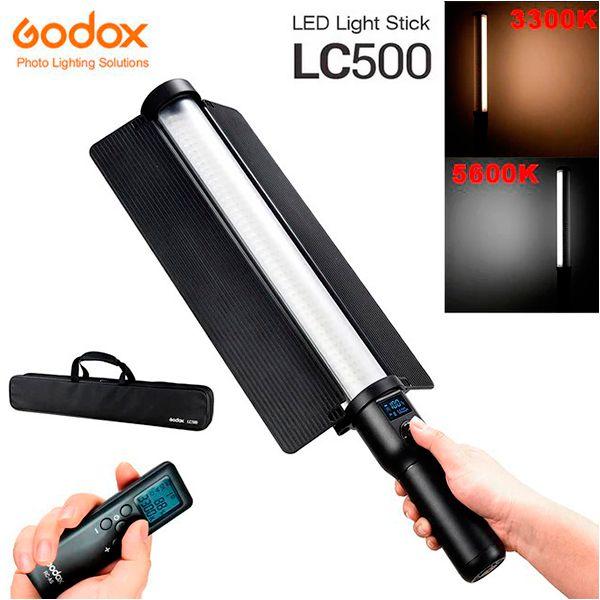 Bastão de LED Bi-Color Godox LC500 com Controle Remoto