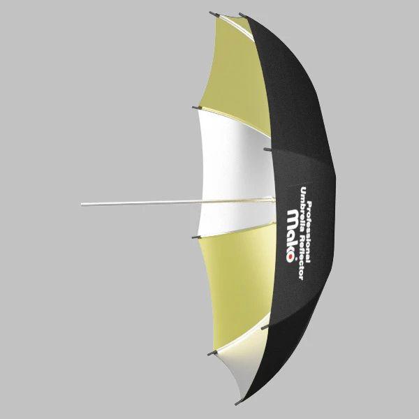 Sombrinha Mako Rebatedora OURO PRATA - 73,5cm