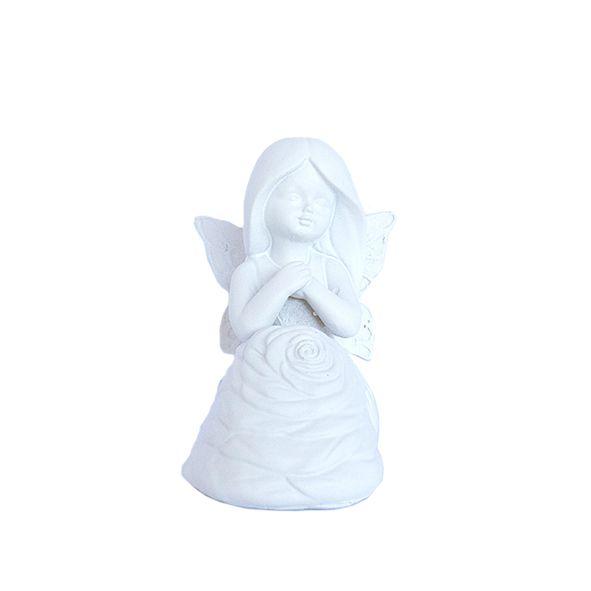 Fada Branca Sentada - Pequena