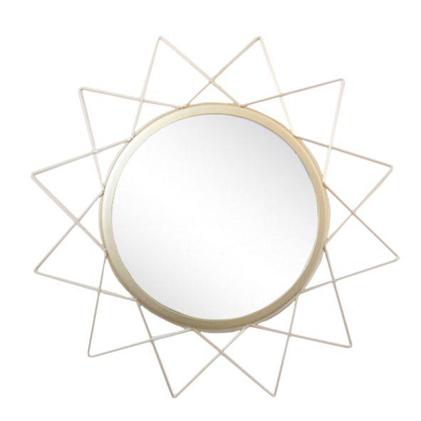 Espelho Estrela Metal Dourado