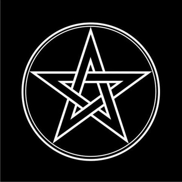 Toalha pentagrama Preta