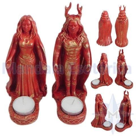 Casal Wicca Cernunnos e Deusa da Lua