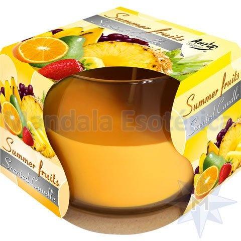 Vela Perfumada Com Copo Aroma de Frutas do Verão