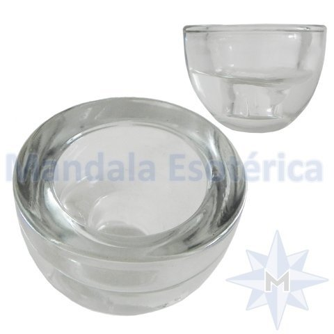 Castiçal de Vidro Oval Duplo