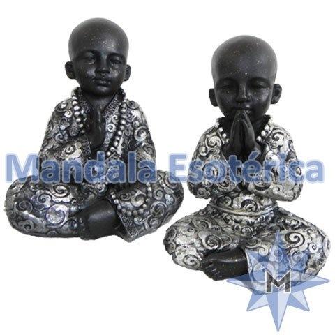 Buda criança prata e preto modelos