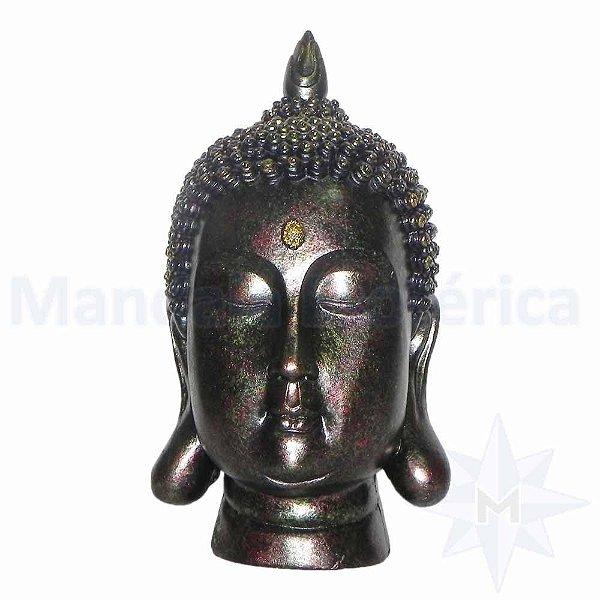 Cabeça de Buda Grande Ouro Roxo