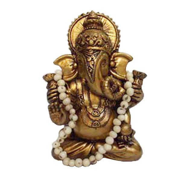 Ganesha Dourado com japamala