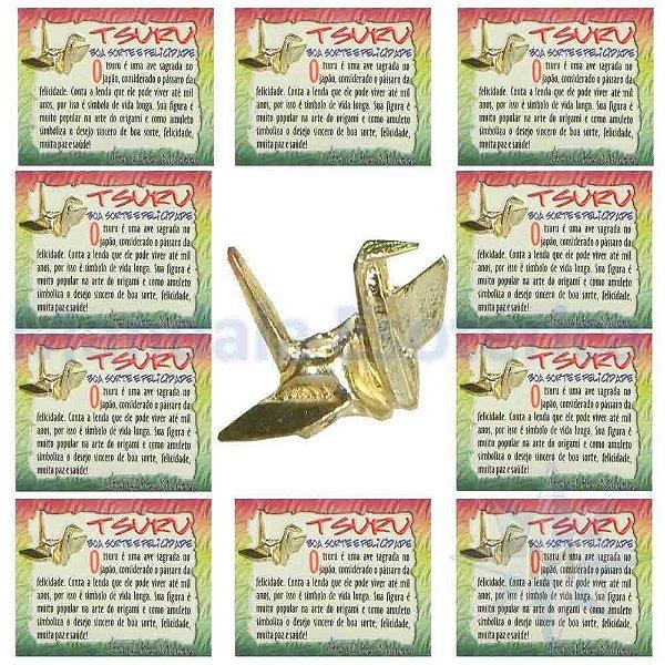 Amuleto Tsuru - Pacote com 10 amuletos de bolso