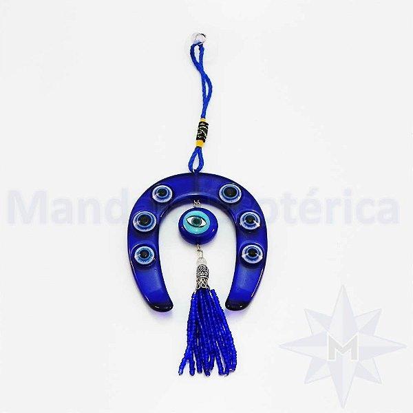 Ferradura Azul com Olho Grego