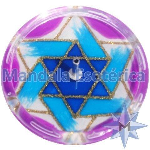 Incensário redondo estrela azul