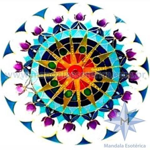 Mandala Sol Azul Extra Grande