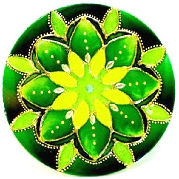 Mandala Verde Esperança Média