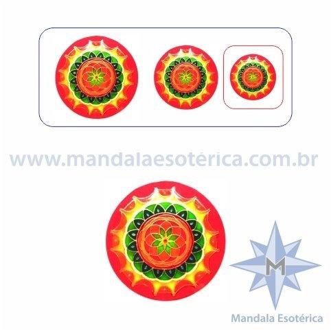 Mandala Rosácea Laranja Pequena
