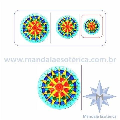 Mandala Sol Azul Pequena