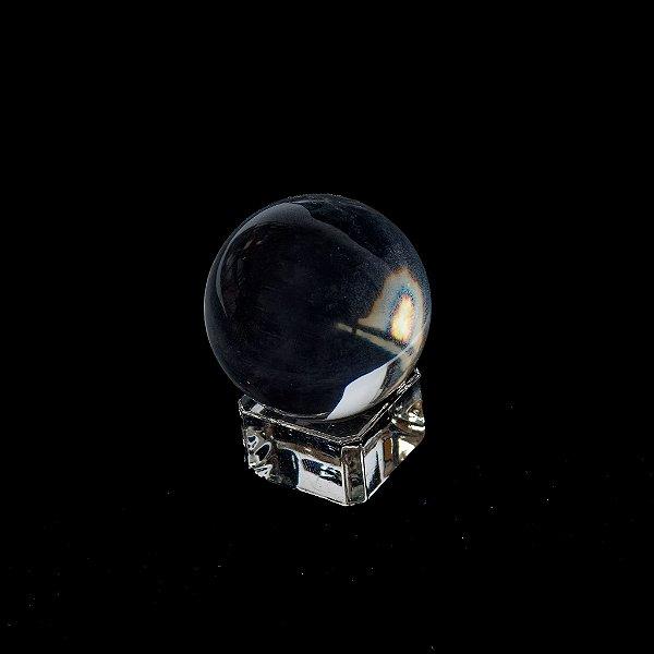 Bola de cristal 4 cm com base