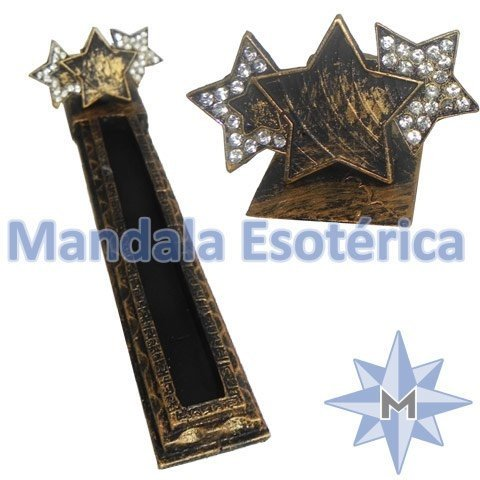 Incensário Canaleta Estrela Dourada