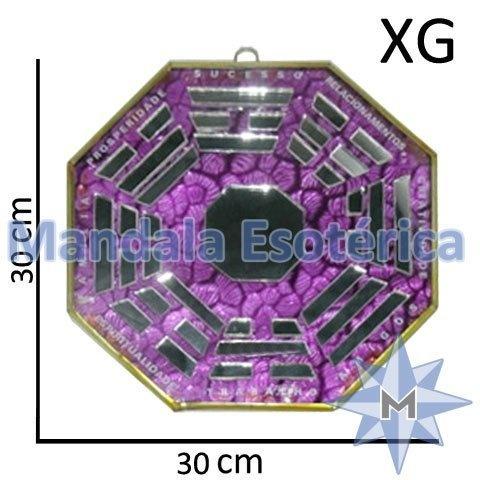 Bá-Gua Espelhado Lilás - 30cm