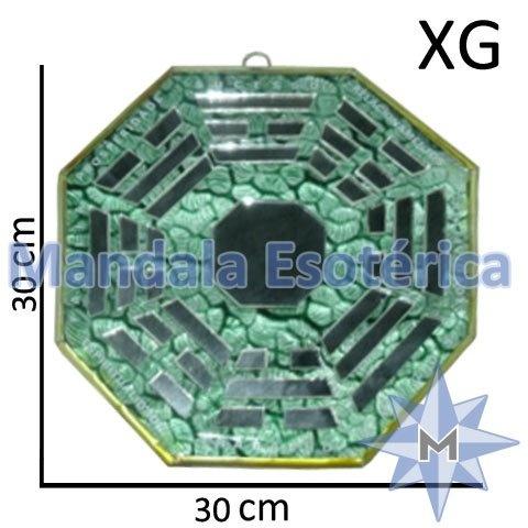 Bá-Gua Espelhado Verde - 30cm