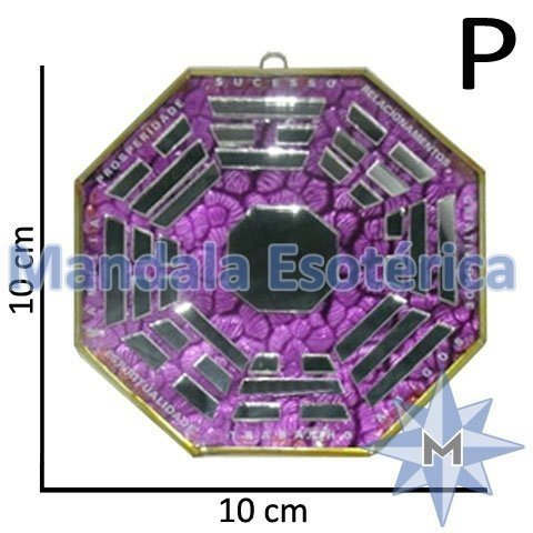 Bá-Gua Espelhado Lilás - 10 cm