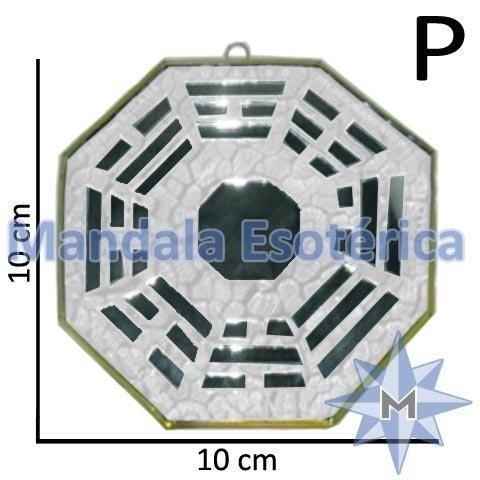 Bá-Gua Espelhado Branco - 10cm