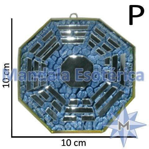 Bá-Gua Espelhado Azul Claro - 10cm