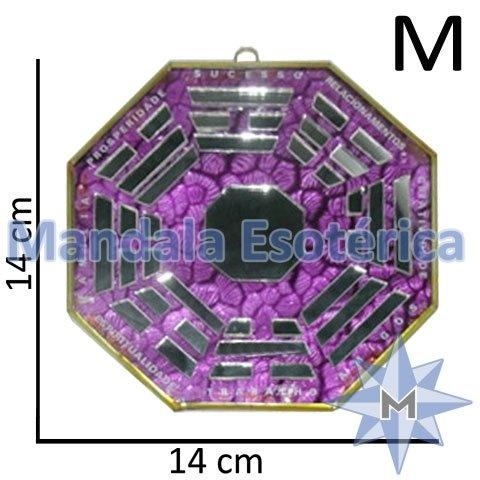 Bá-Gua Espelhado Lilás - 14 cm