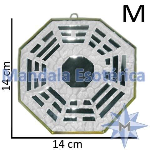 Bá-Gua Espelhado Branco - 14 cm