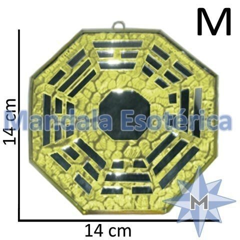 Bá-gua Espelhado Amarelo - 14cm